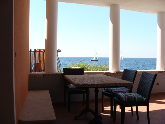 table on terrace apartment Spacal Piran