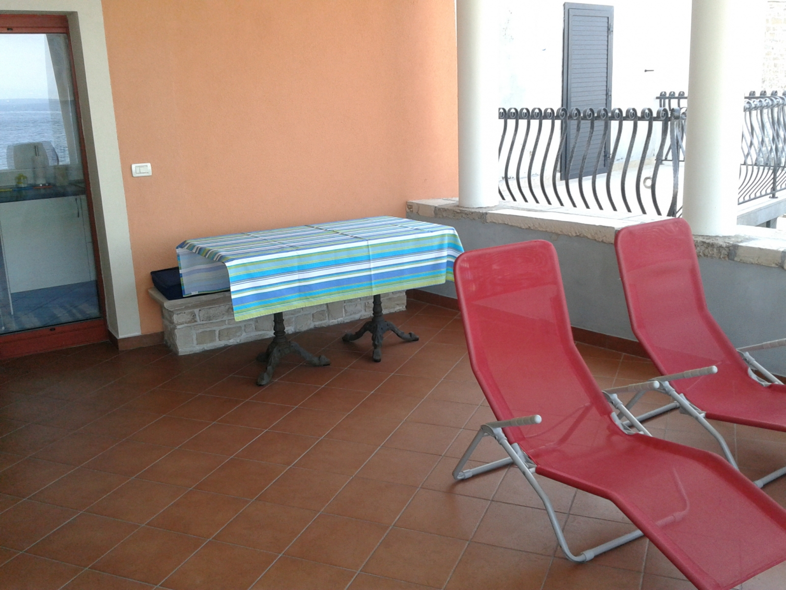 Sea view terrace Piran apartment Spacal