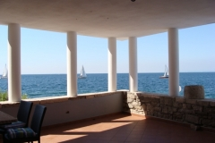 Sea view from terrace apartment Spacal Piran